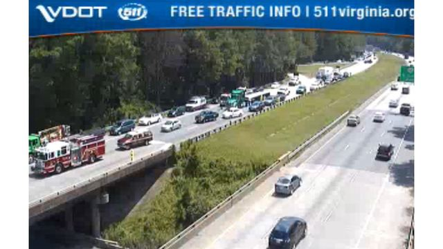 Multi-vehicle crash on westbound I-64 in Newport News