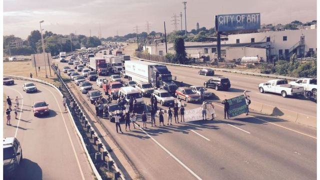 13 arrested after protesters take to Interstate 95 in Richmond