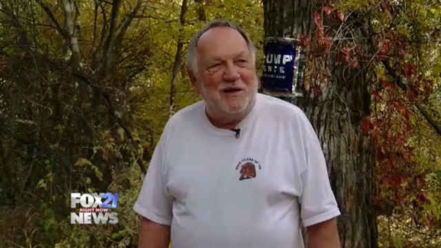 Man takes extreme measures following stolen Trump signs