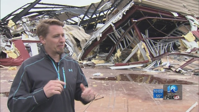 Tornado destroys church in Chesapeake