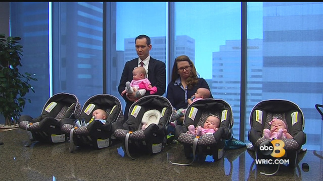 Virginia couple finds joy in the 'little things' after birth of quintuplets