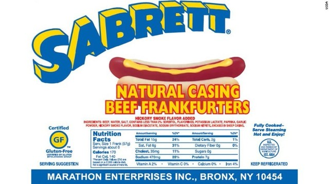 Bone fragment scare forces Sabrett hot dog recall