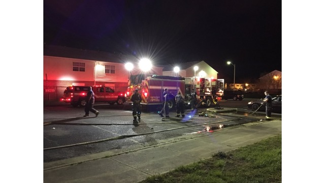 Apartment fire in Hampton leaves one in critical condition