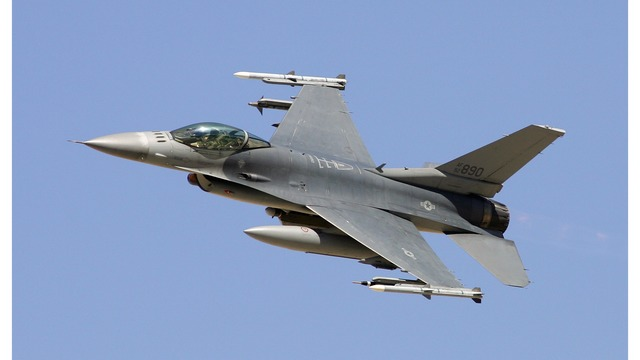 F-16 fighter jet crashes at base outside Vegas