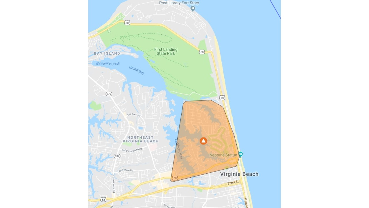 Power Outage Map Virginia Beach.Nearly 2 500 Without Power At The Oceanfront