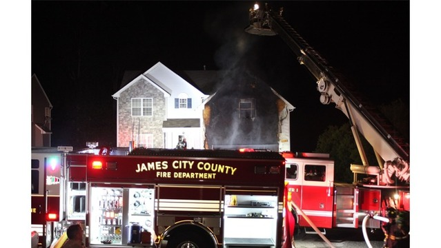 Two people displaced after James City County house fire