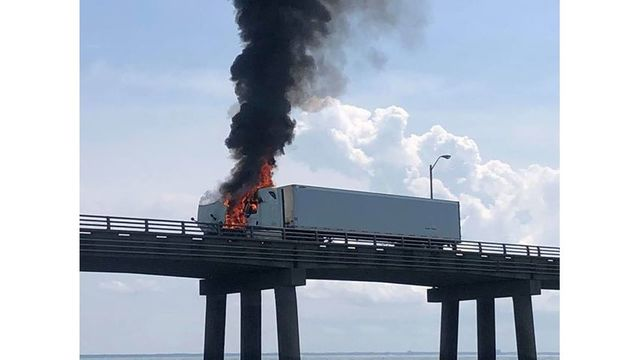 CBBT traffic lanes reopened after tractor-trailer fire