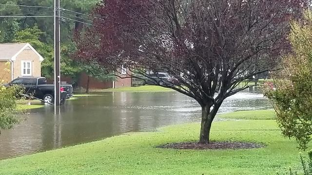 Heavy flooding reported in Hampton Roads neighborhoods