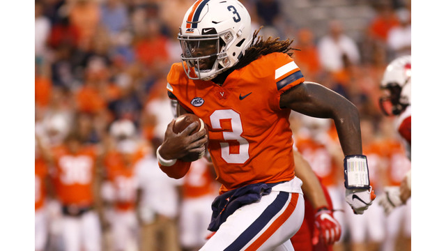 Explosive Virginia offense sparks win over Ohio, 45-31