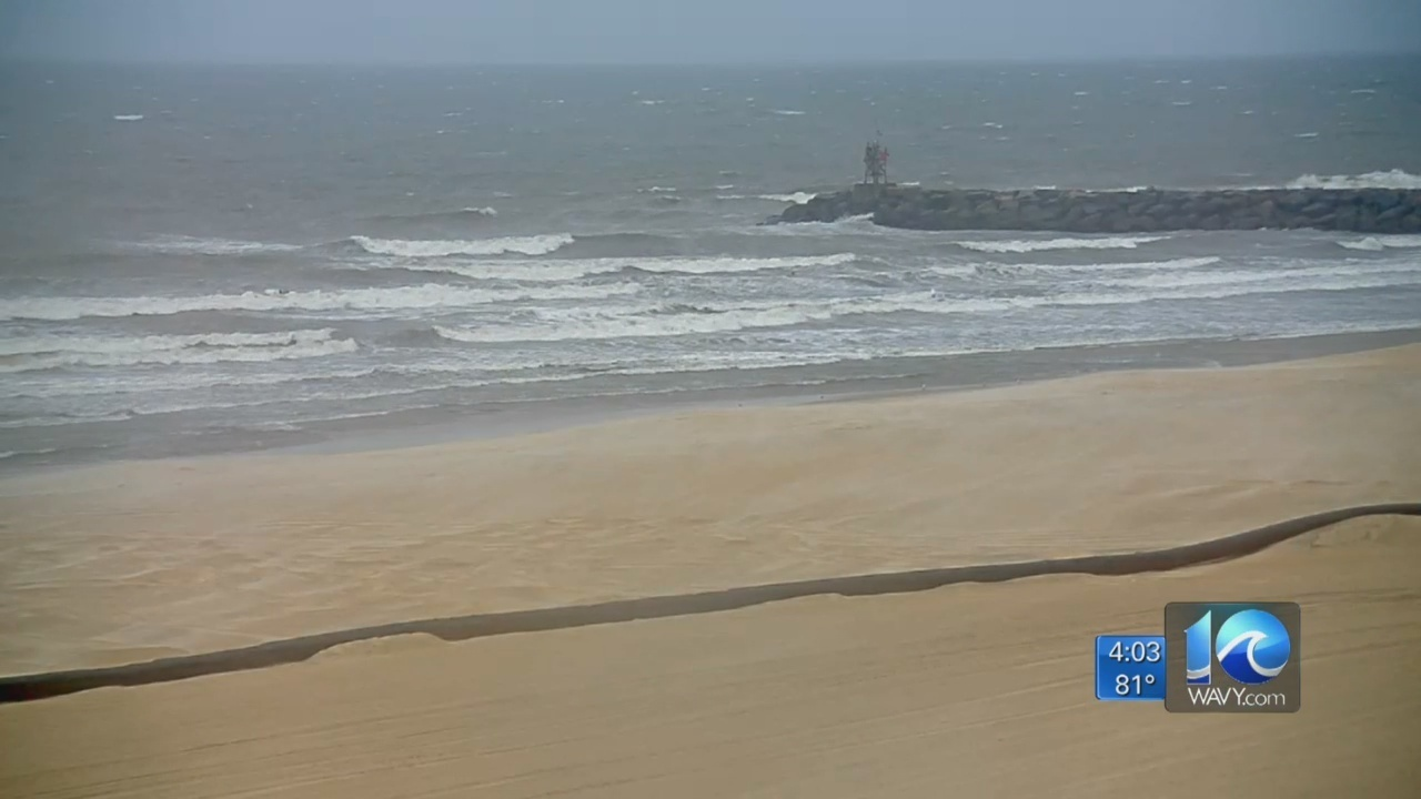 conditions at the virginia beach oceanfront 4 p m update