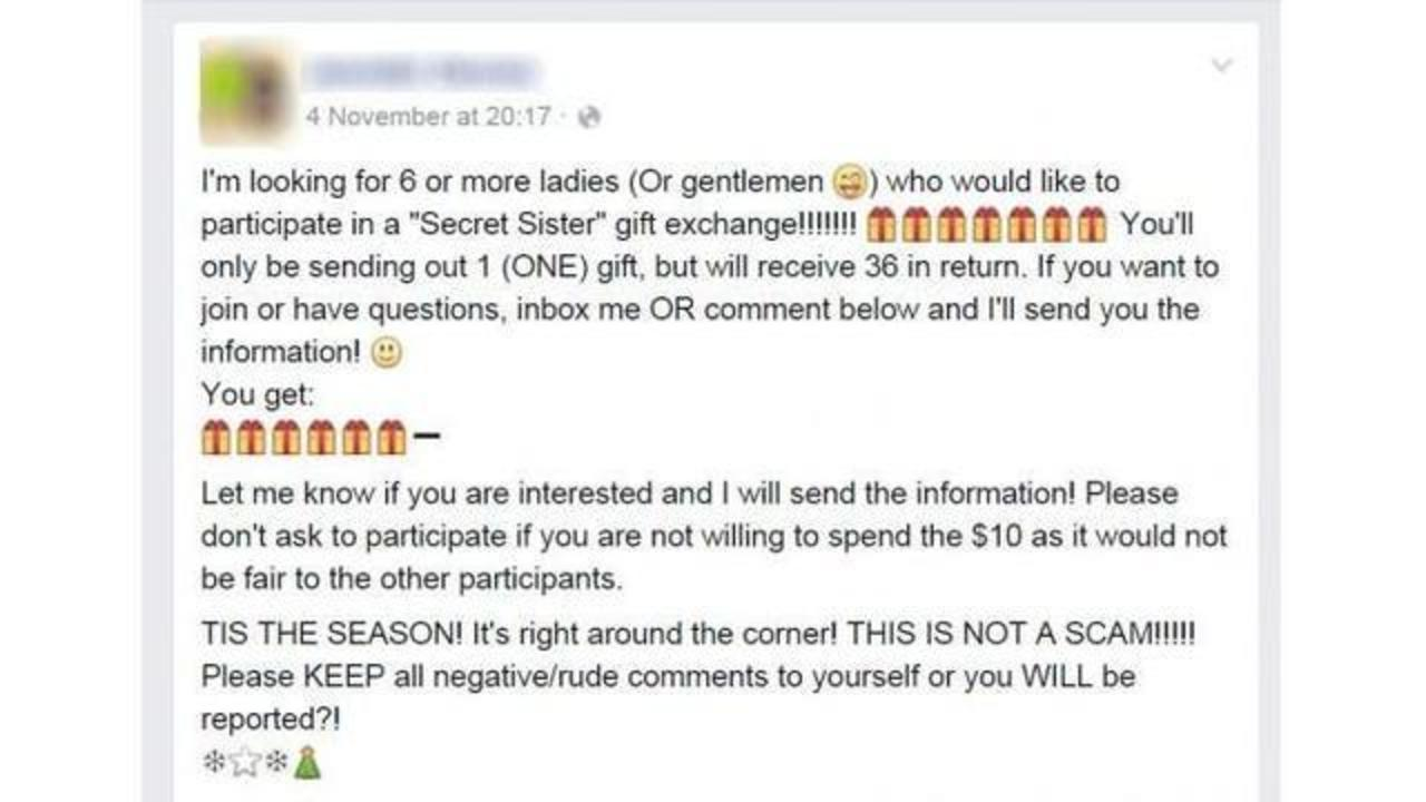 Dont Fall For It Secret Sister Scam On Facebook Is Back