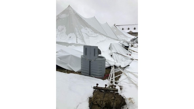 Hanson viewer image of tent collapse