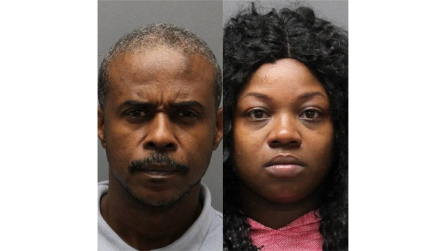 Christopher Myrie (left) and Jonisha Graham mug