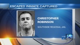 Official: Escaped inmate from Southside Regional Jail caught