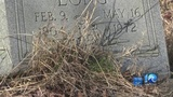 Some headstones buried under debris at Portsmouth cemetery