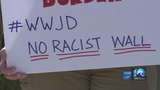 Protesters against Trump's emergency declaration gather in Norfolk