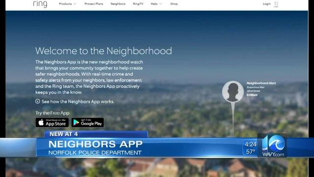 Norfolk PD collaborates with Ring's 'Neighbors' App