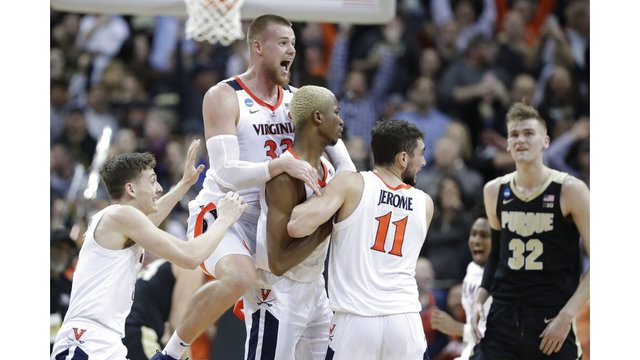 c17dcc1ce607e0 Virginia shakes off Purdue 80-75 in OT to win South Region