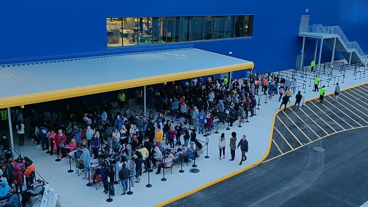 1be459cf964166 Video from Ikea Norfolk s grand opening