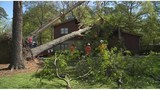 PHOTOS: Severe weather causes power outages and downed trees Monday morning