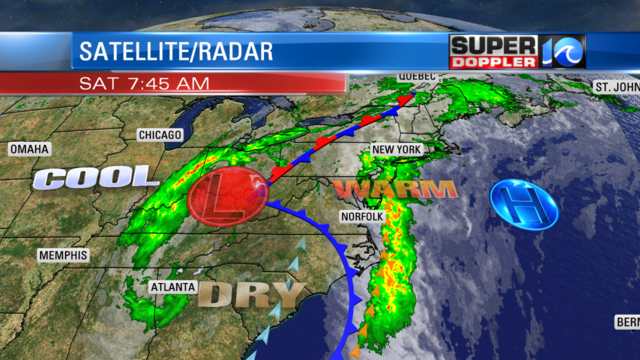Storms Leave The Region. Drying Out Today.