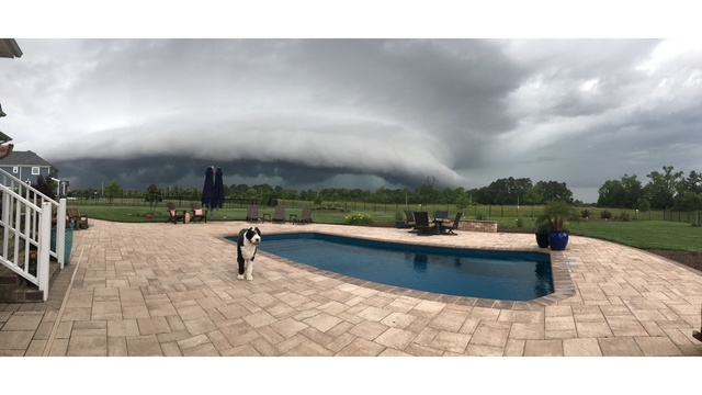 A view of the storm from the Grassfield area of Chesapeake