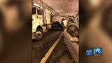 Driver charged with following too close after massive pileup inside HRBT